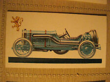 PEUGEOT GRAND PRIX 7.6l 1912 BROOKE BOND TEA CARD History of Motor Car # 13