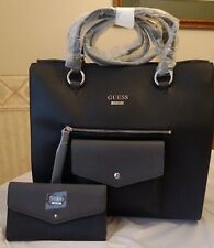 AUTHENTIC NEW NWT GUESS DAVISON FLAP TOTE BAG PURSE WITH MATCHING WALLET