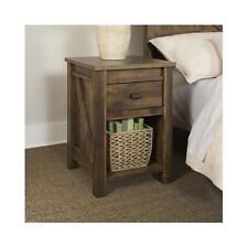Rustic End Table Farmhouse Reclaimed Barn Wood Nightstand Side Accent Furniture