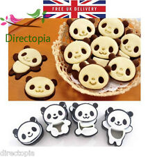Set of 4 Panda Cookie Cutter Mould Biscuits Super Kawaii Cute Pastry Baking