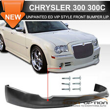 Fit For 05-10 Chrysler 300 300C ED VIP Style Front Bumper Lip Unpainted Black PU