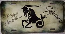 Aluminum License Plate Zodiac Sign Capricorn The Sea Goat Astrology NEW