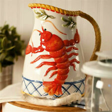 """CLAMBAKE"" PITCHER BY FITZ AND FLOYD - IN CLAMBAKE COLLECTION with LOBSTER"