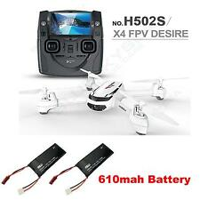 Hubsan H502S X4 Desire FPV RTF RC Quadcopter GPS 720P HD Camera+ Extra 2 Battery