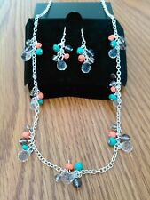 Avon Beaded Cluster Necklace and Earring Gift Set, new.