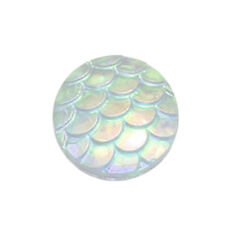 Chic Useful 100 PCS Flatback Resin Fish Scale Pattern Round Cabochon 12mm