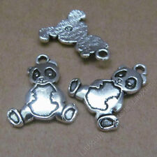 10pc Charms Chinese Panda Animal Pendant Crafts Tibetan Silver Wholesale S607T