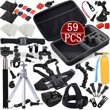 Set Kit for Go pro Gopro Hero 4 3+ 3 2 Camera SJ4000 Monopod Head Chest Mounts