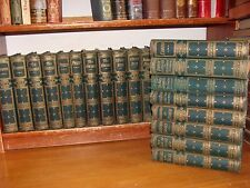 Old WORKS OF WILLIAM THACKERAY Book Set 1869 VANITY FAIR VICTORIAN FINE BINDING