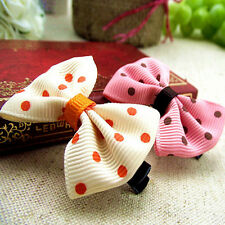 10Pcs Toddler cute Girl Hair Clip Ribbon Bow Baby Kids Satin Bowknot Headband g