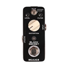 MOOER Black Secret Distortion Electirc Guitar Effects Pedal True Bypass