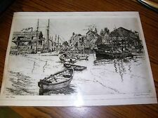 """1783) Etched Litho San Pedro Lionel Barrymore Signed 11.5  x 16"""" Laminated"""