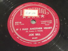 Joe Bill: If I Had Another Heart / I Saw Your Name In The Paper 78 - Hillbilly