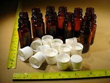 12 x Flasche 10ml Braunglas mit Deckel Weiss Orginalitätsverschluss Tropfeinsatz