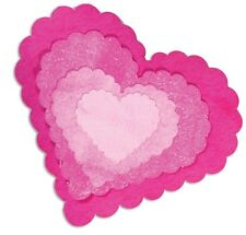 Sizzix Framelit Die Set - 5 Pack Scalloped Hearts : 657562