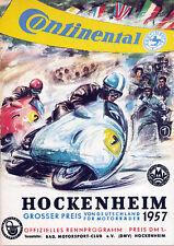 Programm - Grosser Preis von Deutschland - Hockenheim - 1957-   nl-Versandhandel