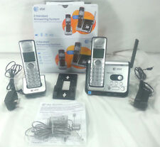 AT&T 2 HANDSET ANSWERING SYSTEM 82212 DECT 6.0 LRG DISPLAY CORDLESS EXPANDABLE