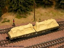 Hay Bros - TARP COVERED Diesel Generator loads (2/pack Tan) for Flatcars & Gons