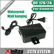 DC 12V 2A Power Supply Adapter For CCTV Camera Waterproof Outdoor Power Adapter