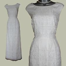 MONSOON Ivory Tulle Embellished Simple Elegant Wedding Maxi Dress  UK 12