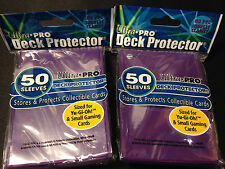 100(2 Packs) Purple Ultra.Pro YuGiOh/CardFight Vanguard Deck Protector Sleeves