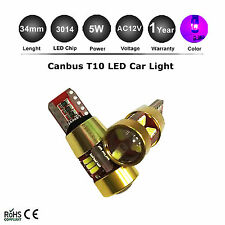 2x T10 194 168 W5W 3014 27 smd Canbus led Car Light Bulb Lamp super Purple Pink