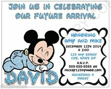 Baby Mickey Mouse Baby Shower Invitations Personalize 12pk  ANY CHANGES OK
