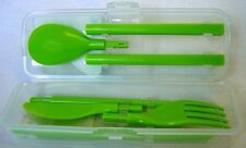 Sistema Plastic Cutlery to Go  Knife  Fork  Spoon & Chopstick Set  Lime Green