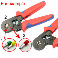 Mini Ratchet Crimper Plier Crimping Tool Kit Cable Wire Electrical Terminals