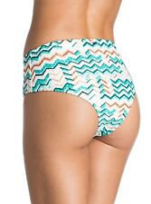 NEW ROXY Sun Sand and Salt Mid Waisted Bikini Bottoms Blue ARJX403124 L Large
