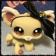Littlest Pet Shop CREAM & TAN CHIHUAHUA DOG BROWN EYES #1199 BLEMISHED