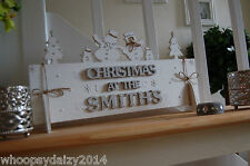 Christmas Sign Family Personalised Gift Decoration