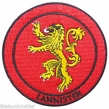 Game of Thrones House Lannister Sew Embroidered Iron-On Patches Cap T Shirt C054