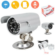 New CCTV DVR TF Card Slot Night Vision Home Outdoor Security Camera Surveillance