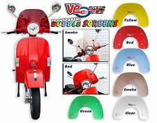 TRANSPARENT CLEAR BUBBLE SPORTS FLYSCREEN - VESPA PX 200 E DISC