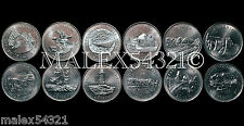 1992 COMPLETE SET OF THE (12) COMMEMORATIVE 25 CENT