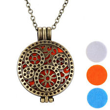Unique Alloy Essential Oil Diffuser Perfume Aromatherapy Locket Necklace