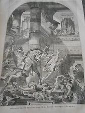 Gravure 1867 Héliodore chassé du Temple