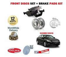 FOR HONDA ACCORD 2.2DT DTEC 2.4 6/2008-  NEW FRONT BRAKE DISCS SET + DISC PADS