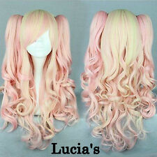 High Quality Beautiful Fashion Style Two Pigtails Color Japanese Anime wig