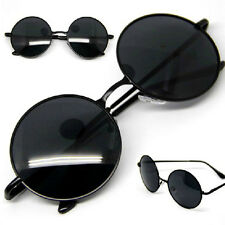 Black Lens Vintage Retro Men Women Round Metal Frame Sunglasses  Eyewear Glasses