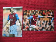 "ASTON VILLA ROBERT PIRES & MARC ALBRIGHTON HAND SIGNED PHOTO'S 12"" x 8"" -2 COAs"