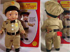"SHELL  OIL CO. 13"" STATION ATTENDANT BUDDY LEE DOLL w/ COLLECTIBLE TIN"