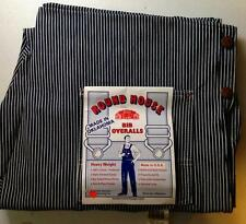 *NEW* ROUND HOUSE Bib Overalls Engineer Blue Pinstripe 44x30 MADE IN USA