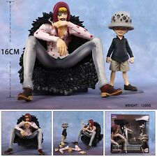 One Piece Corazon Trafalgar Law Anime Manga Figuren 2er Set H:18cm Neu