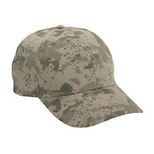 1 Dozen (12) Military Army Desert Digital Camo Tan Baseball Hats - Quick Ship!
