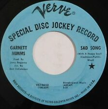 GARNETT MIMMS northern soul promo 45 VERVE Sad Songs, Get It While You Can