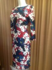 CLASSIC...ERDEM Multi Colored Floral Print Sheath Dress Sz US8