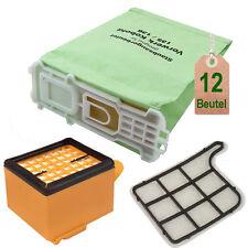 12 Staubsaugerbeutel Filtertüten + 2 Filter passend für Vorwerk Kobold 135 136