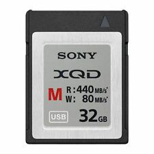 SONY 32GB XQD M-Series Memory Card - 440MB/s Read - 80MB/s Write. QD-M32